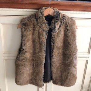 Preston & York Faux Fur Zip Up Vest
